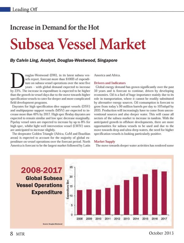 Marine Technology Magazine, page 8,  Oct 2013 transportation