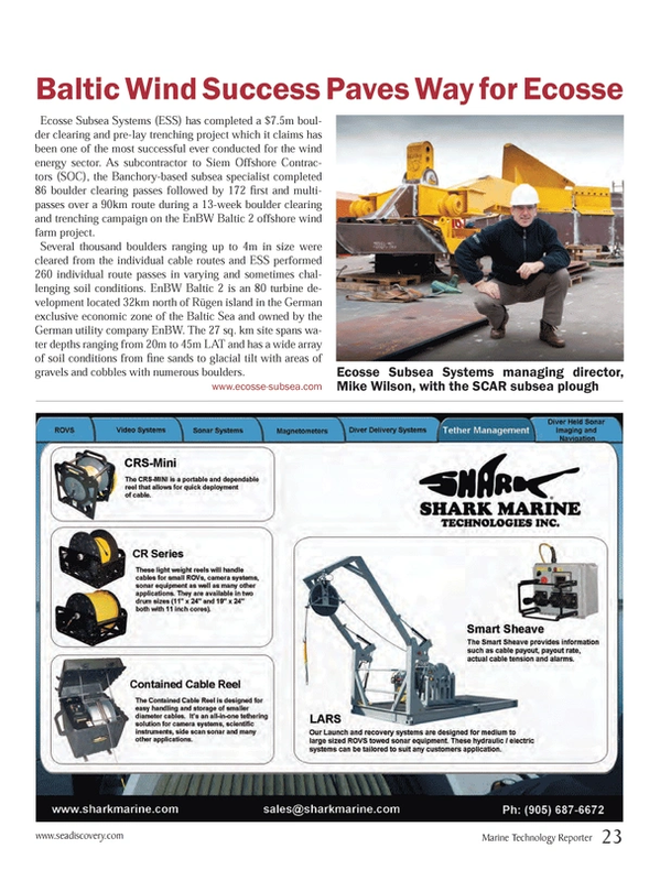 Marine Technology Magazine, page 23,  Oct 2013