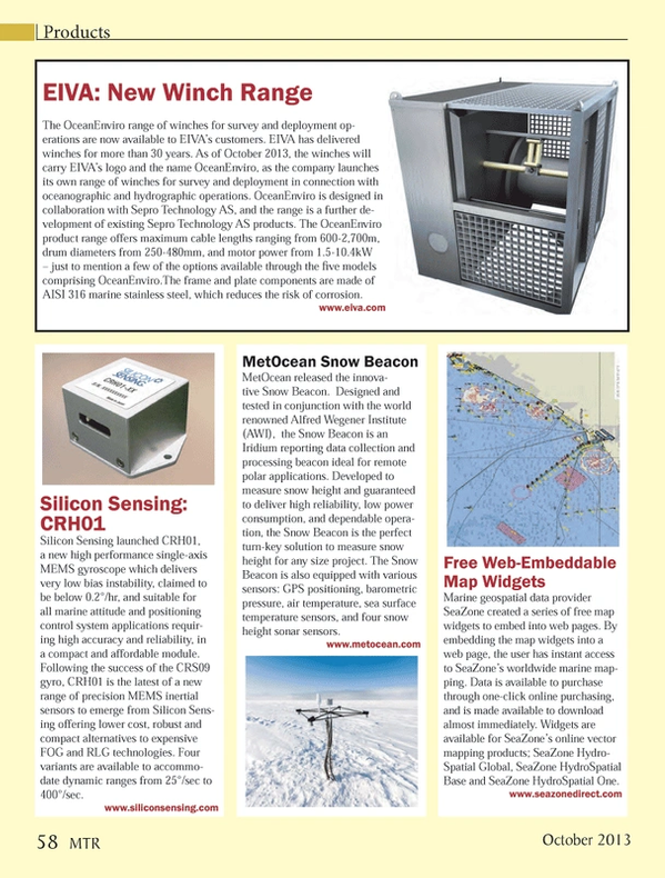 Marine Technology Magazine, page 58,  Oct 2013