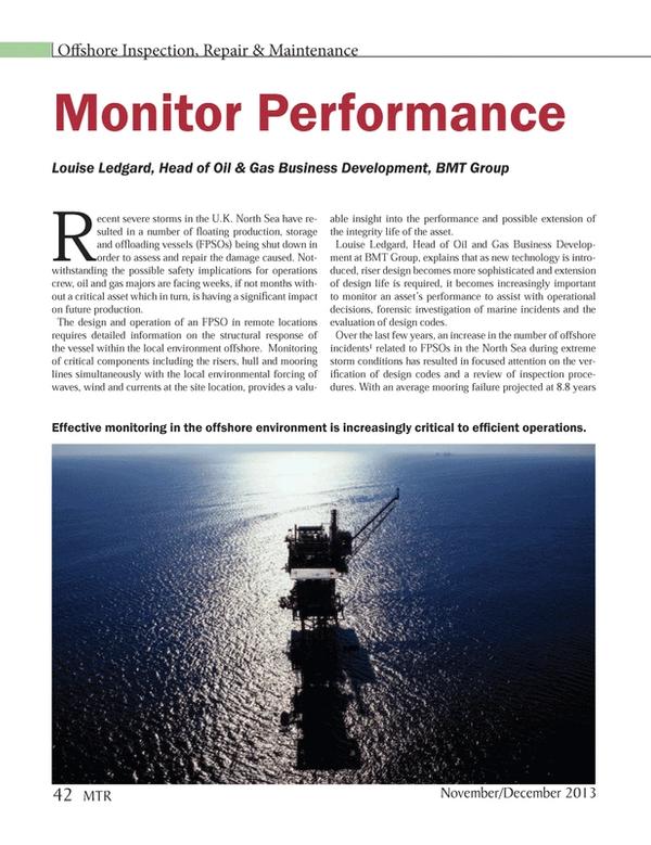 Marine Technology Magazine, page 42,  Nov 2013 Louise Ledgard