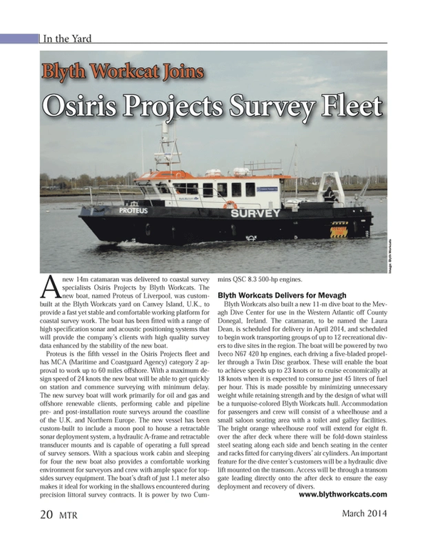 Marine Technology Magazine, page 20,  Mar 2014