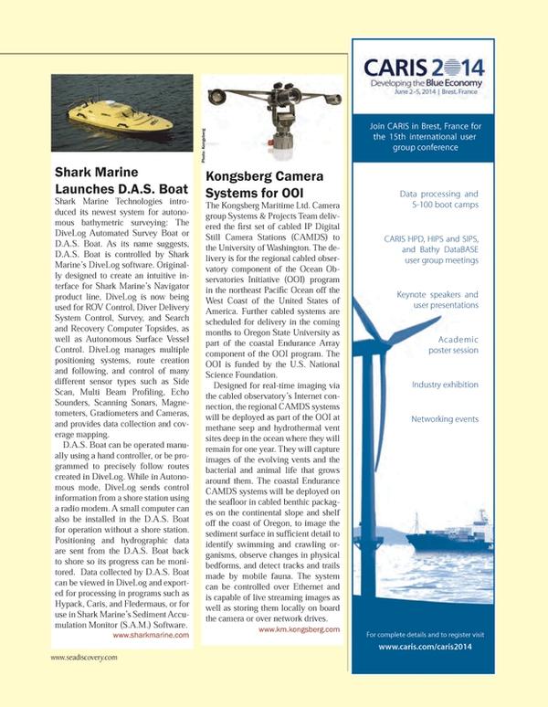 Marine Technology Magazine, page 91,  Mar 2014 Oregon