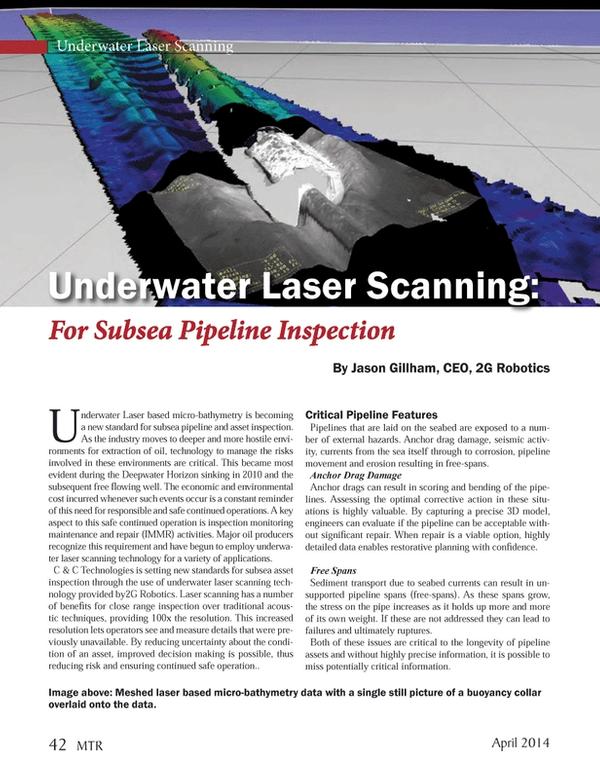 Marine Technology Magazine, page 42,  Apr 2014