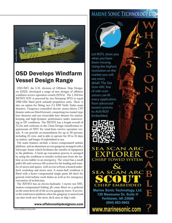 Marine Technology Magazine, page 15,  May 2014 United Kingdom