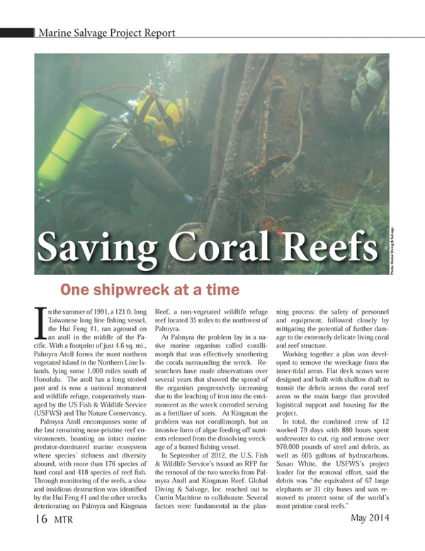 Marine Technology Magazine, page 16,  May 2014 steel