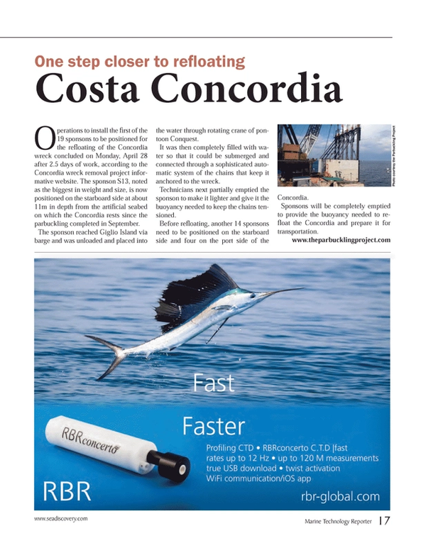 Marine Technology Magazine, page 17,  May 2014