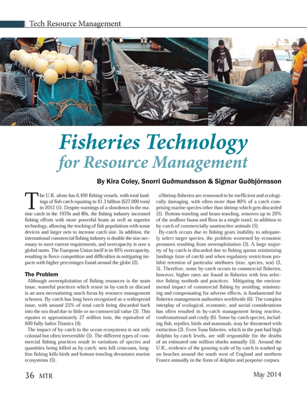 Marine Technology Magazine, page 36,  May 2014 Kira Coley