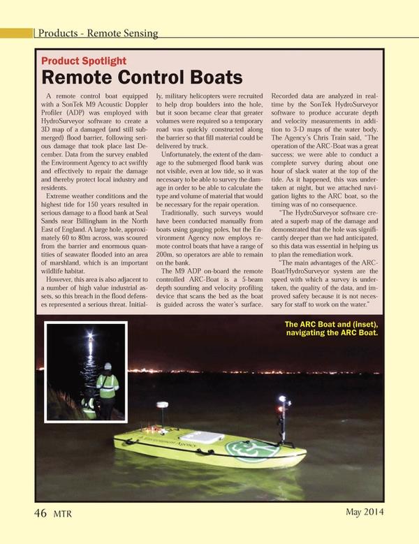 Marine Technology Magazine, page 46,  May 2014 EN