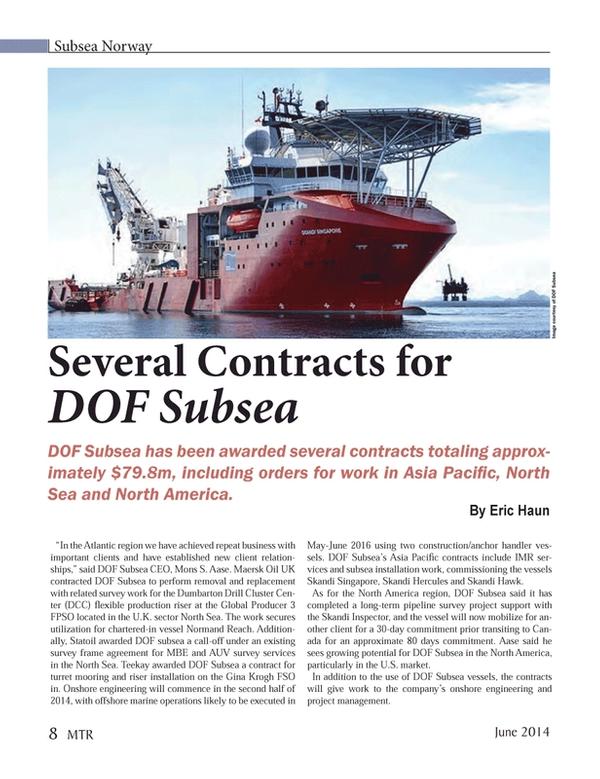 Marine Technology Magazine, page 8,  Jun 2014 United Kingdom