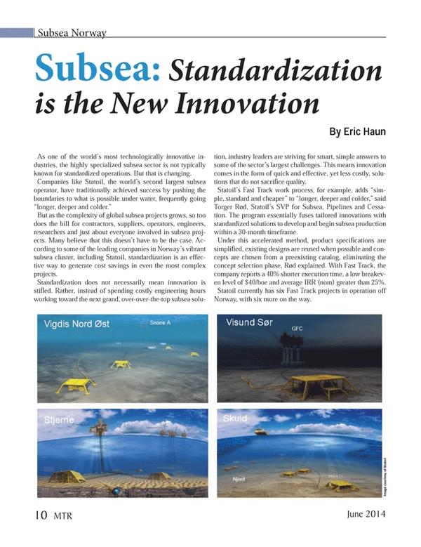 Marine Technology Magazine, page 10,  Jun 2014