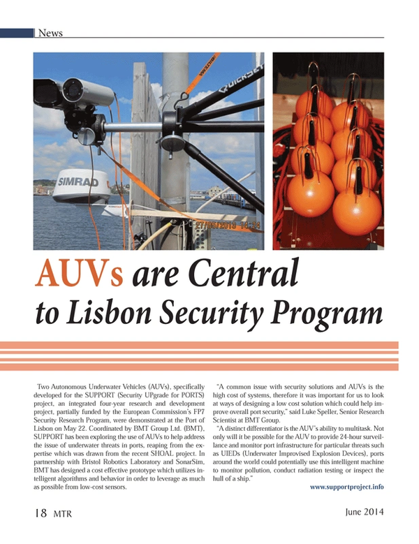 Marine Technology Magazine, page 18,  Jun 2014