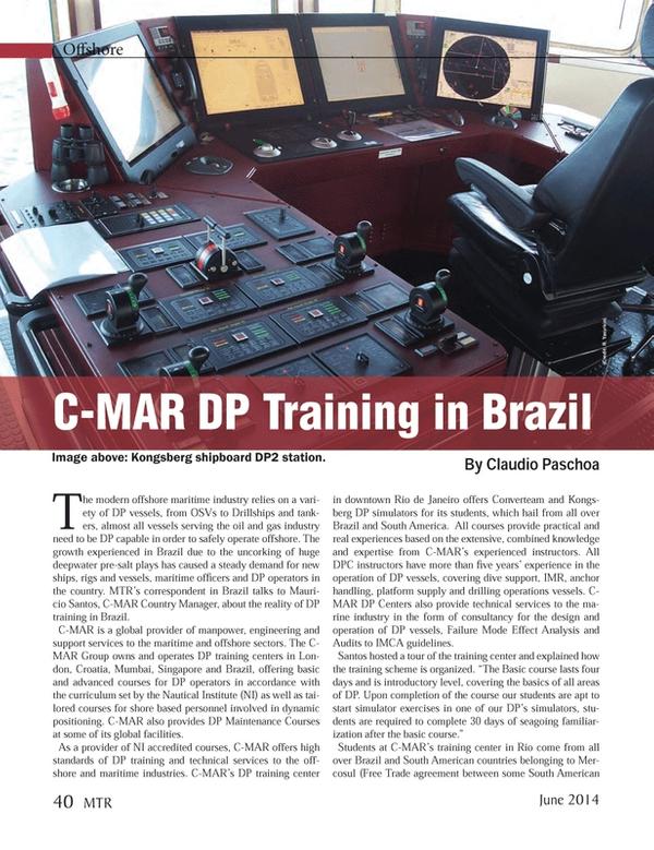 Marine Technology Magazine, page 40,  Jun 2014