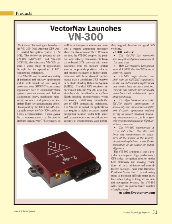 Marine Technology Magazine, page 53,  Jun 2014