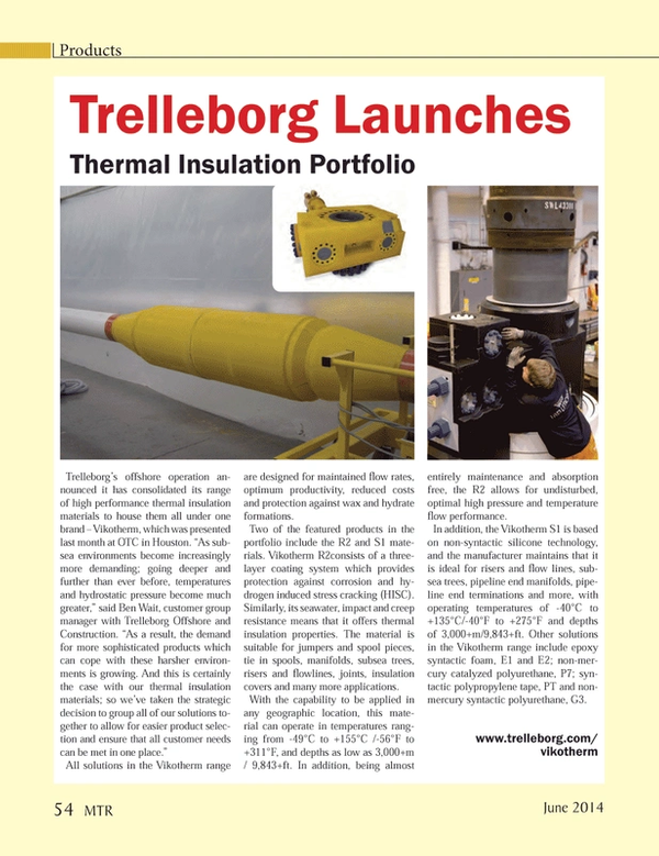 Marine Technology Magazine, page 54,  Jun 2014