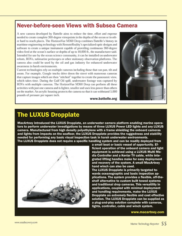 Marine Technology Magazine, page 55,  Jun 2014 oil and gas industry