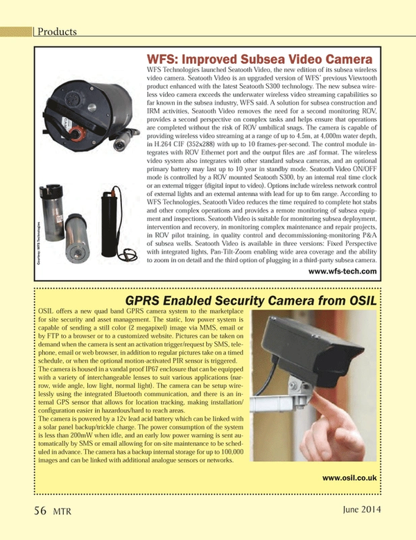 Marine Technology Magazine, page 56,  Jun 2014 Seatooth S300 technology