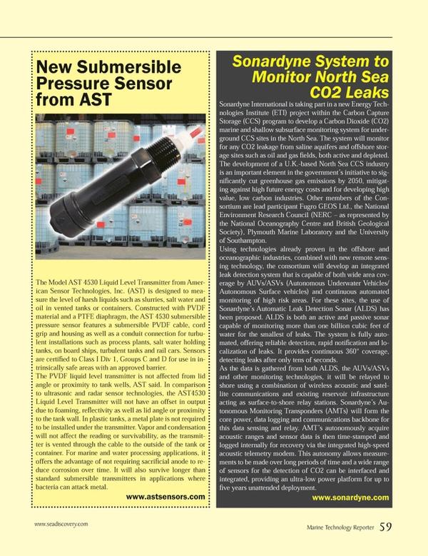 Marine Technology Magazine, page 59,  Jun 2014