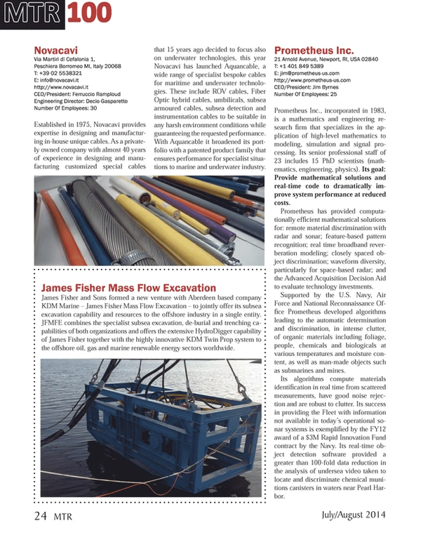Marine Technology Magazine, page 24,  Jul 2014