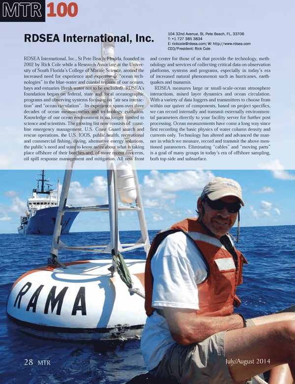 Marine Technology Magazine, page 28,  Jul 2014