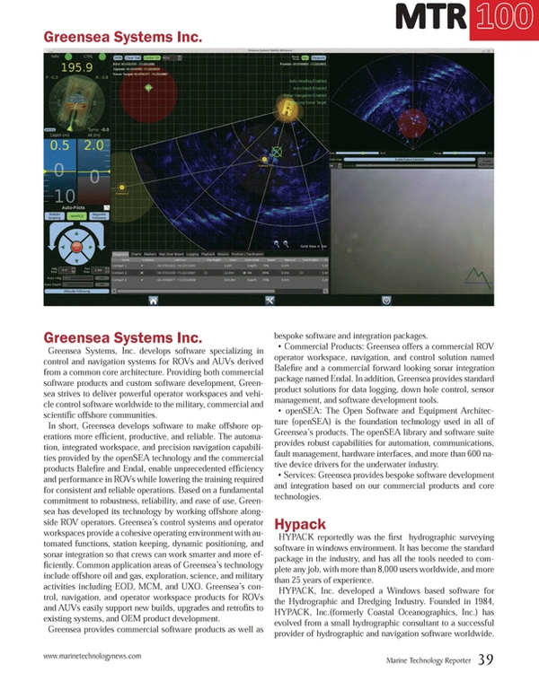 Marine Technology Magazine, page 39,  Jul 2014