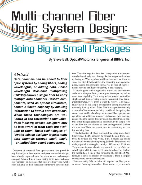 Marine Technology Magazine, page 28,  Sep 2014