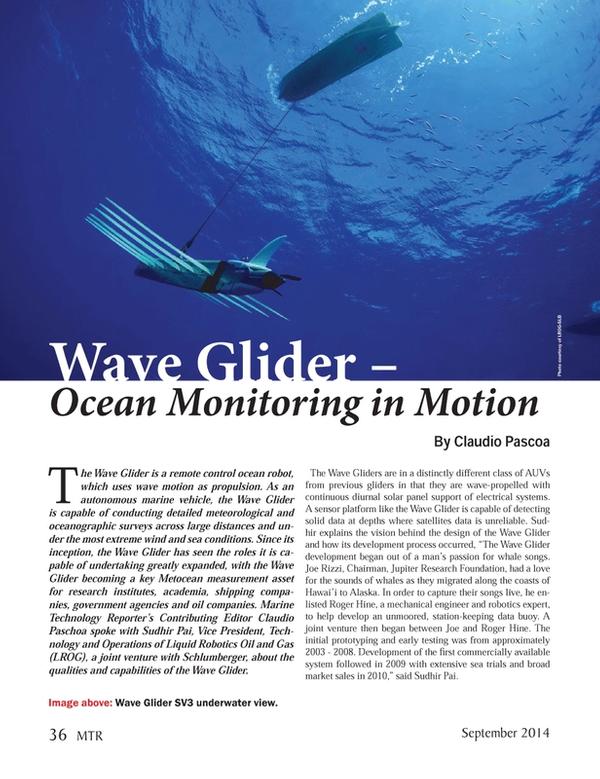 Marine Technology Magazine, page 36,  Sep 2014