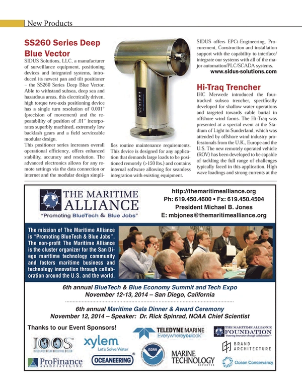Marine Technology Magazine, page 74,  Sep 2014