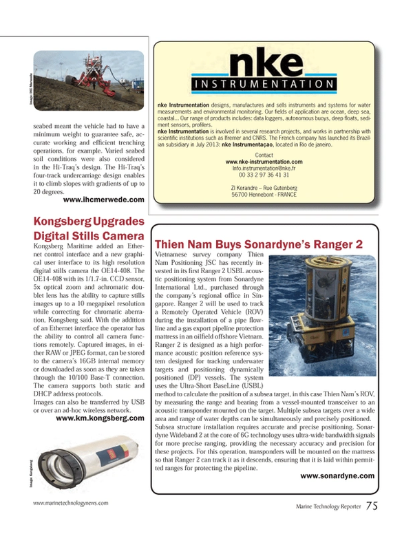 Marine Technology Magazine, page 75,  Sep 2014