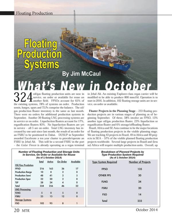 Marine Technology Magazine, page 20,  Oct 2014