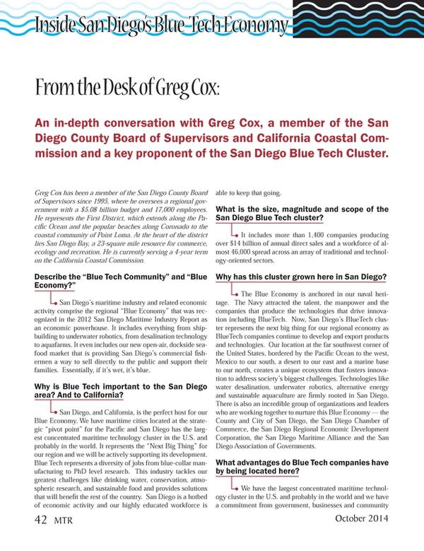 Marine Technology Magazine, page 42,  Oct 2014