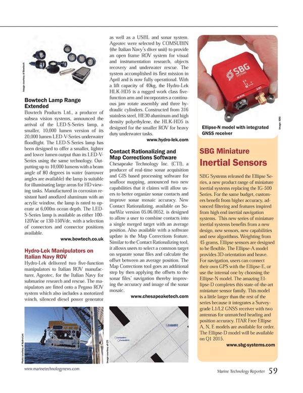 Marine Technology Magazine, page 59,  Oct 2014