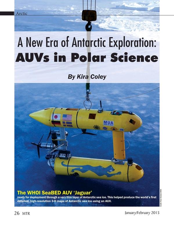 Marine Technology Magazine, page 26,  Jan 2015