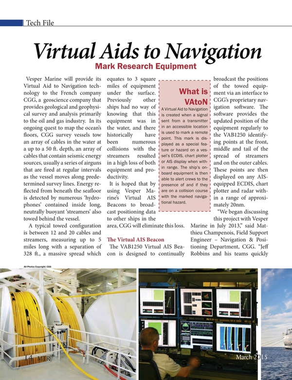 Marine Technology Magazine, page 14,  Mar 2015