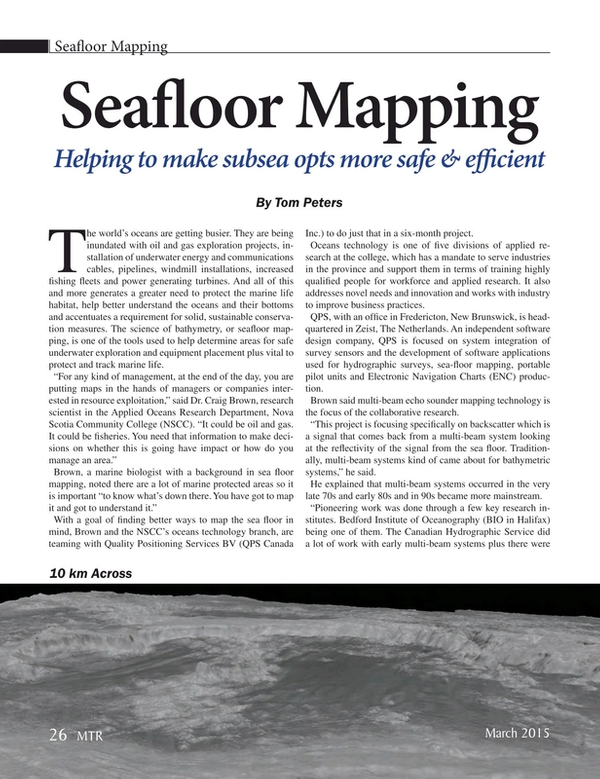 Marine Technology Magazine, page 26,  Mar 2015