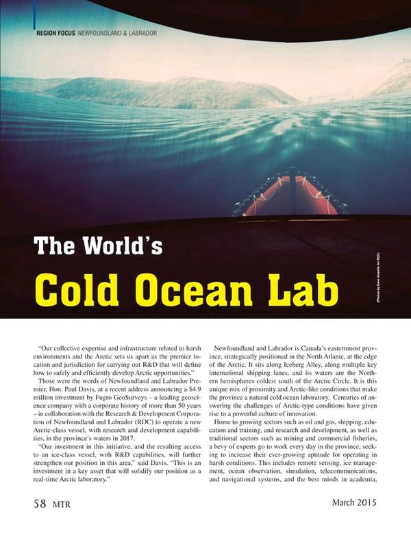 Marine Technology Magazine, page 58,  Mar 2015