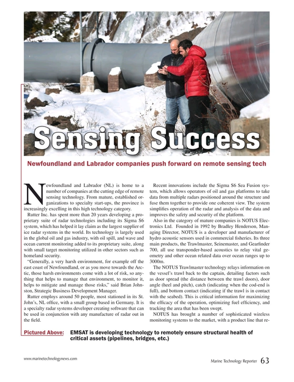 Marine Technology Magazine, page 63,  Mar 2015