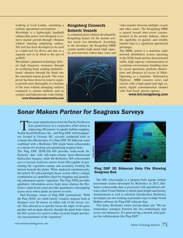 Marine Technology Magazine, page 75,  Mar 2015