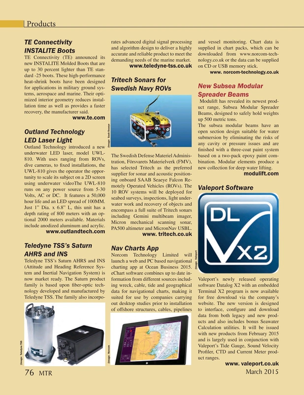Marine Technology Magazine, page 76,  Mar 2015