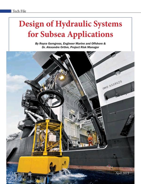 Marine Technology Magazine, page 18,  Apr 2015