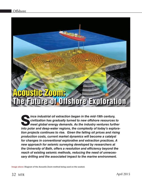 Marine Technology Magazine, page 32,  Apr 2015