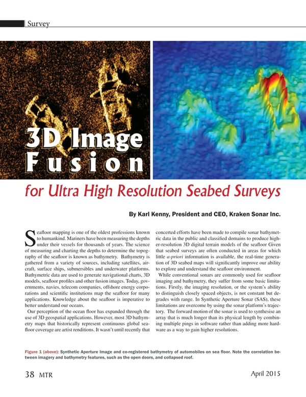 Marine Technology Magazine, page 38,  Apr 2015