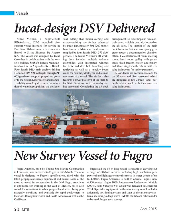 Marine Technology Magazine, page 50,  Apr 2015