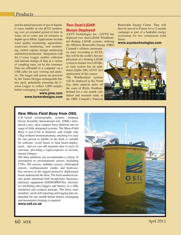 Marine Technology Magazine, page 60,  Apr 2015