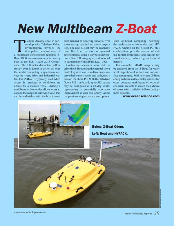 Marine Technology Magazine, page 59,  May 2015