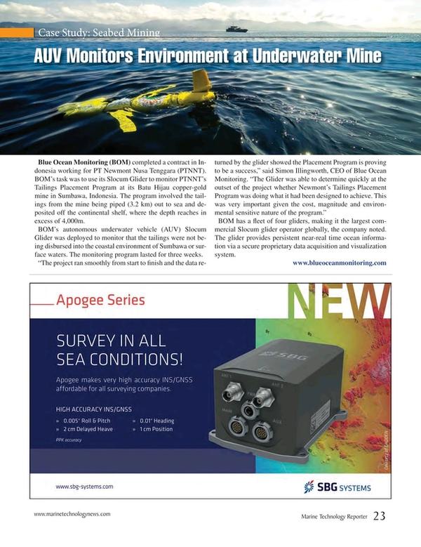 Marine Technology Magazine, page 23,  Jun 2015