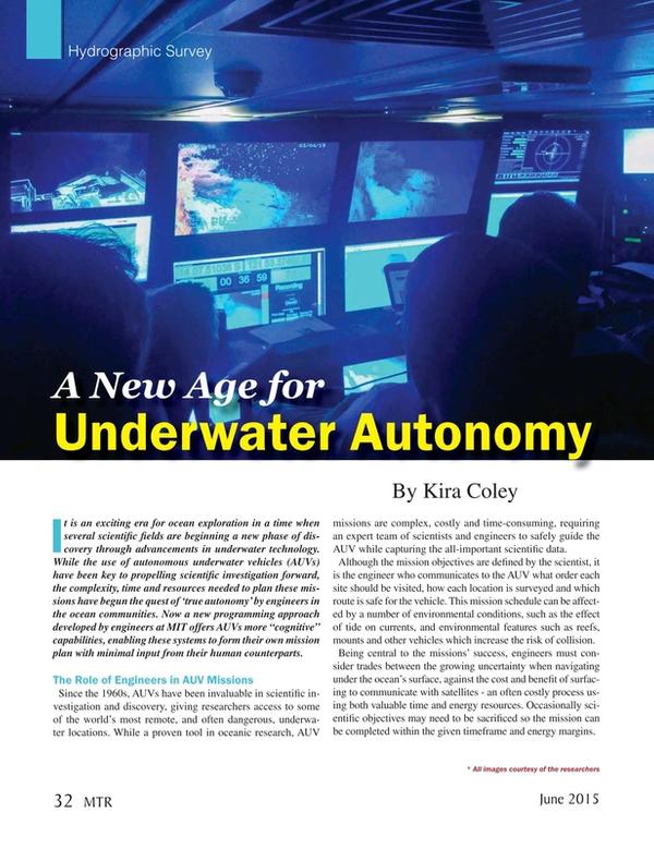 Marine Technology Magazine, page 32,  Jun 2015