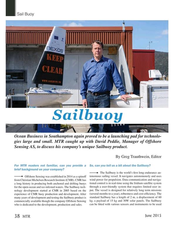 Marine Technology Magazine, page 38,  Jun 2015