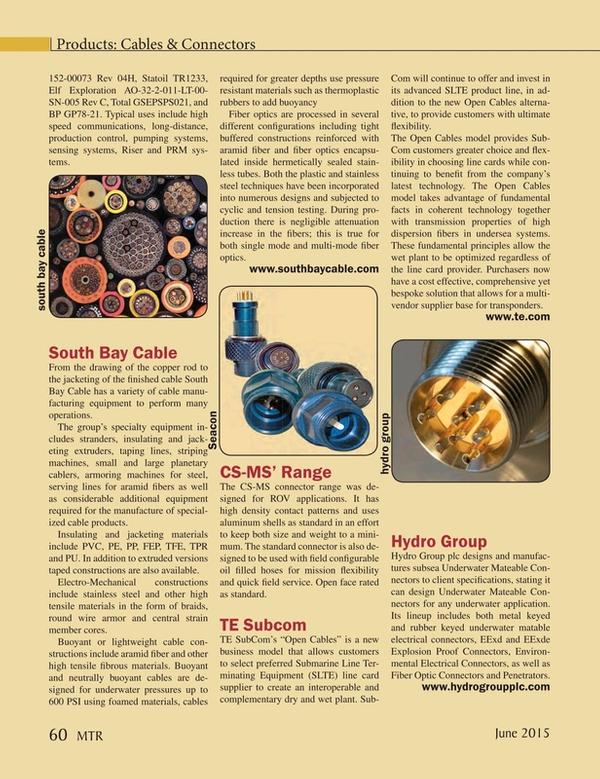 Marine Technology Magazine, page 60,  Jun 2015
