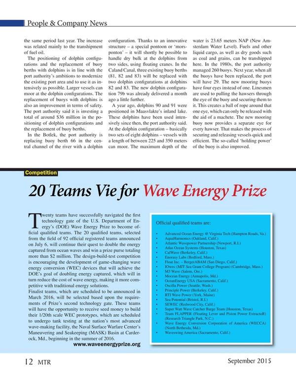 Marine Technology Magazine, page 12,  Sep 2015