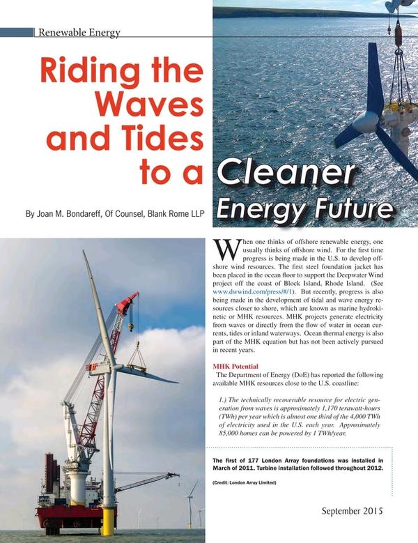 Marine Technology Magazine, page 20,  Sep 2015